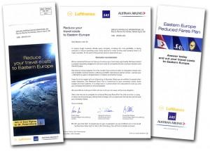 B to B mail met een aanbod rond speciale tarieven voor Oost Europese bestemmingen.